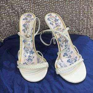 Gucci Strappy Sandals in Eggshell Color